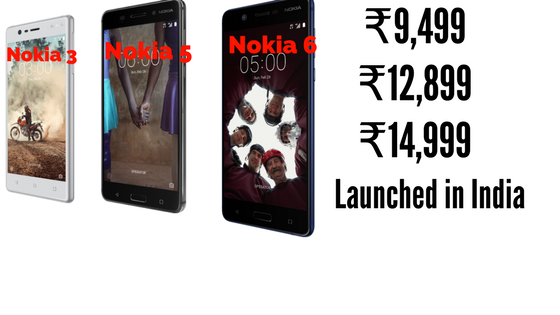 Nokia 3,5,6 India