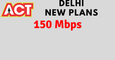 act fibernet delhi 150 mbps