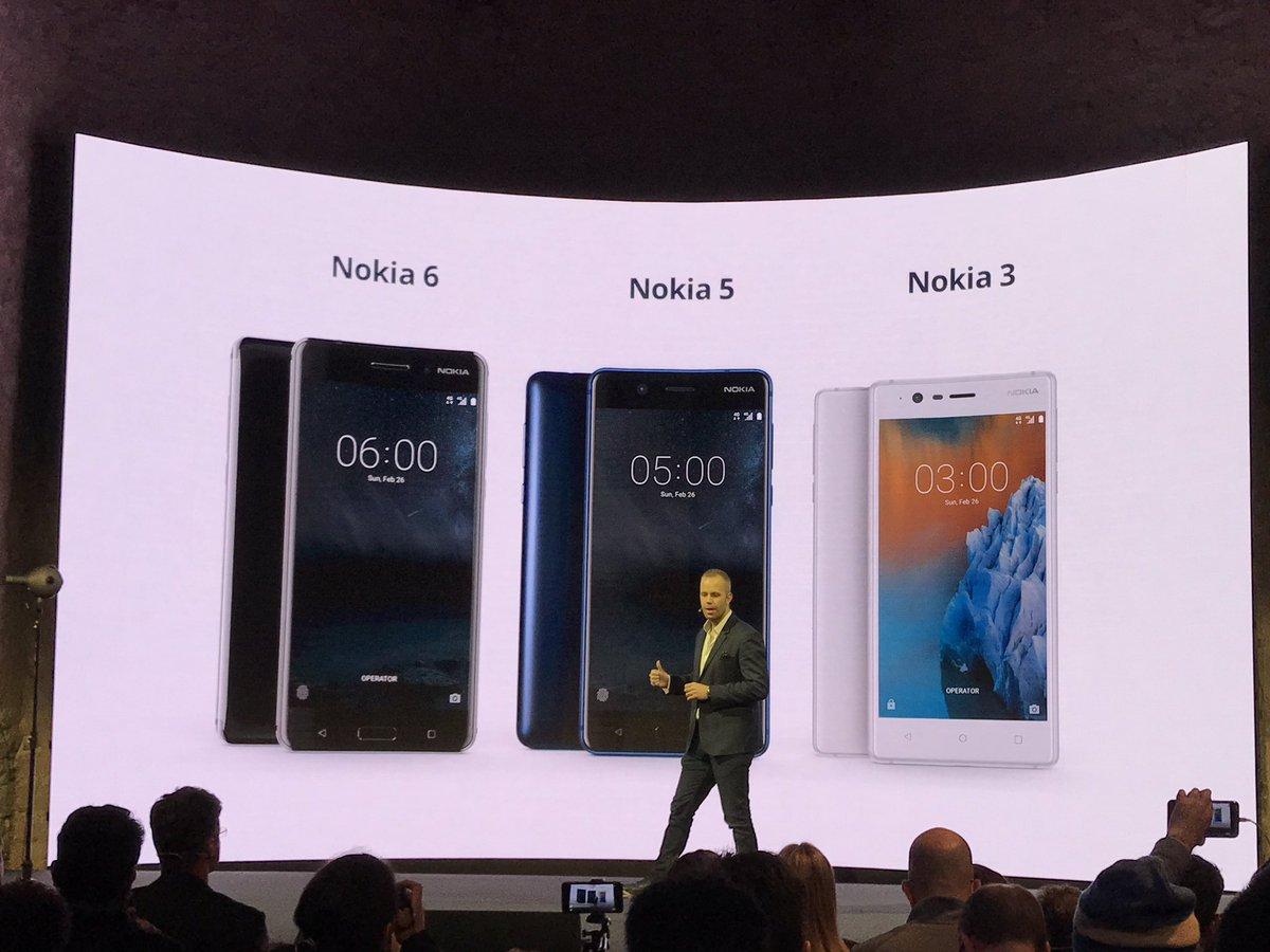 Nokia 5,Nokia 3 and Nokia 6 launched - TechUNeed