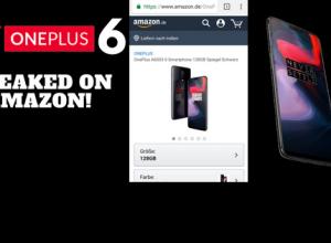 Oneplus 6 Leak Amazon