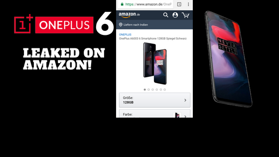Oneplus 6 Leak Amazon