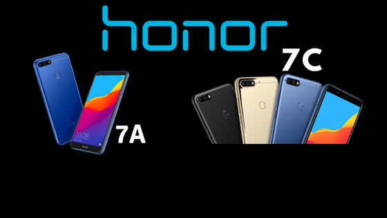 Honor 7C and 7A India
