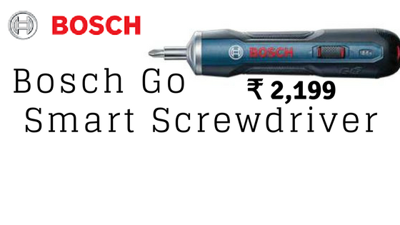 Bosch Go Smart Screwdriver