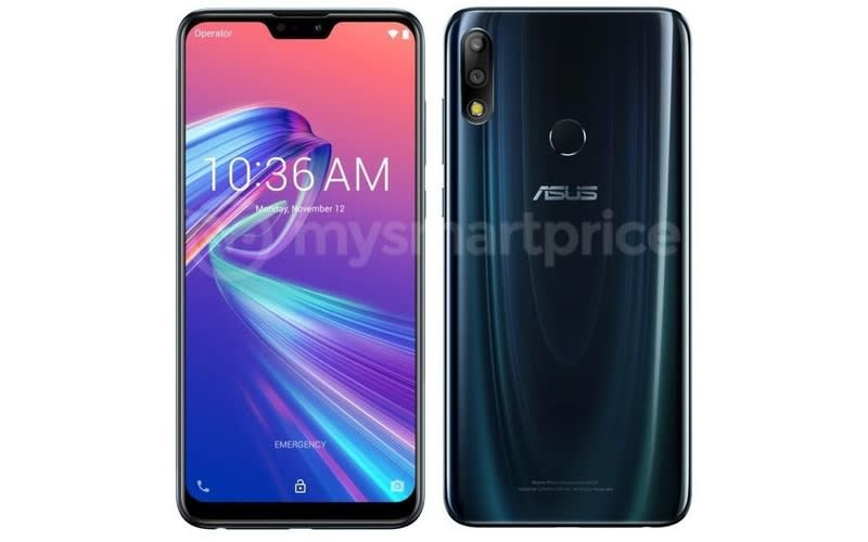 Asus Zenfone Max Pro M2 Press Render