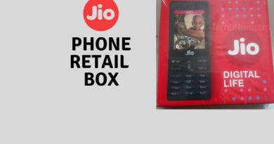 JioPhone Retail box