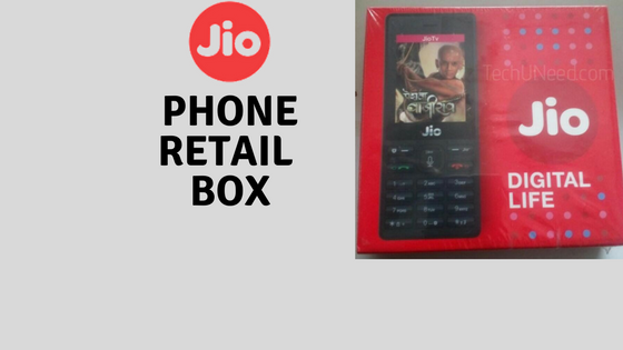 JioPhone Retail box