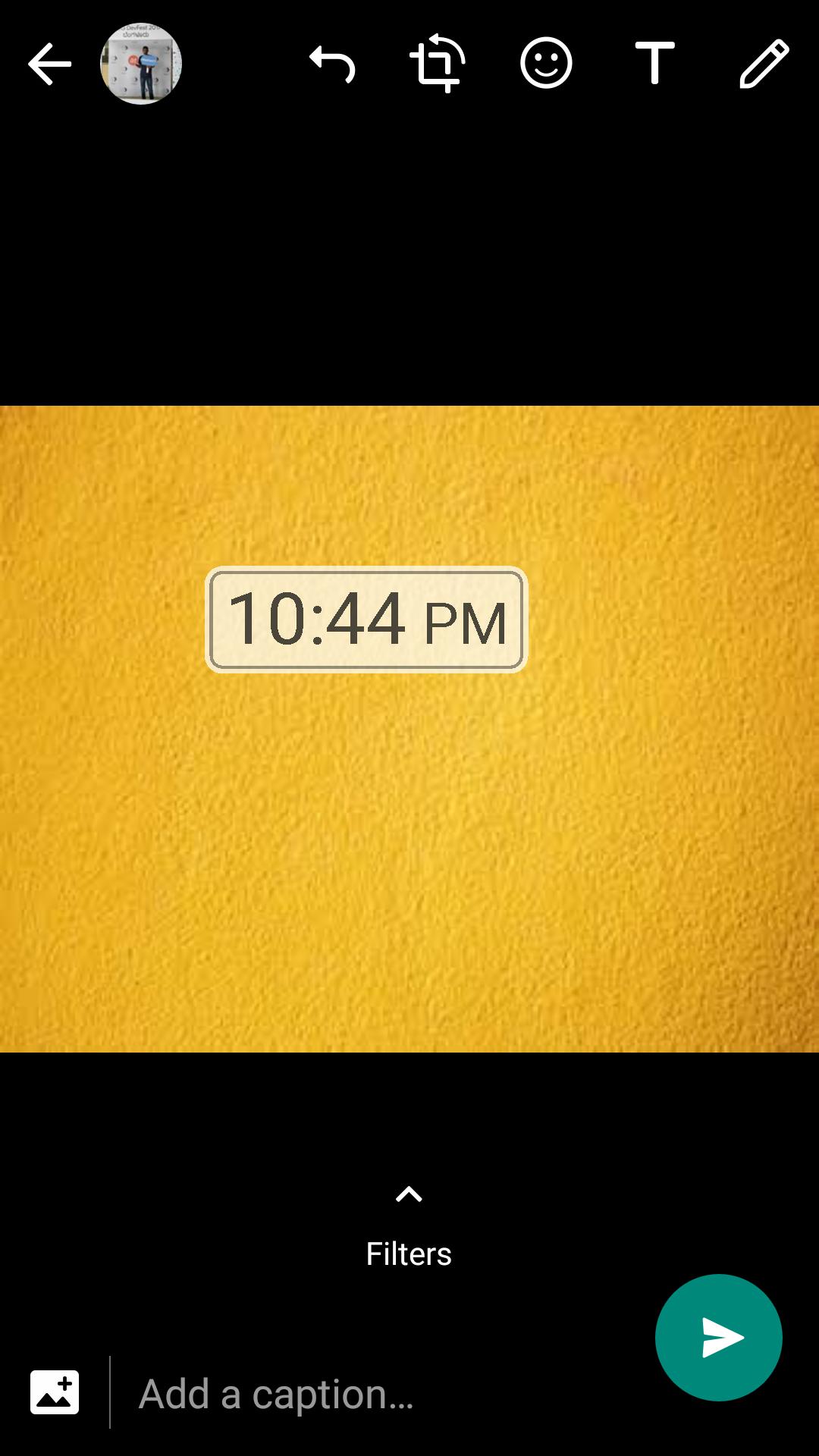 whatsapp time sticker