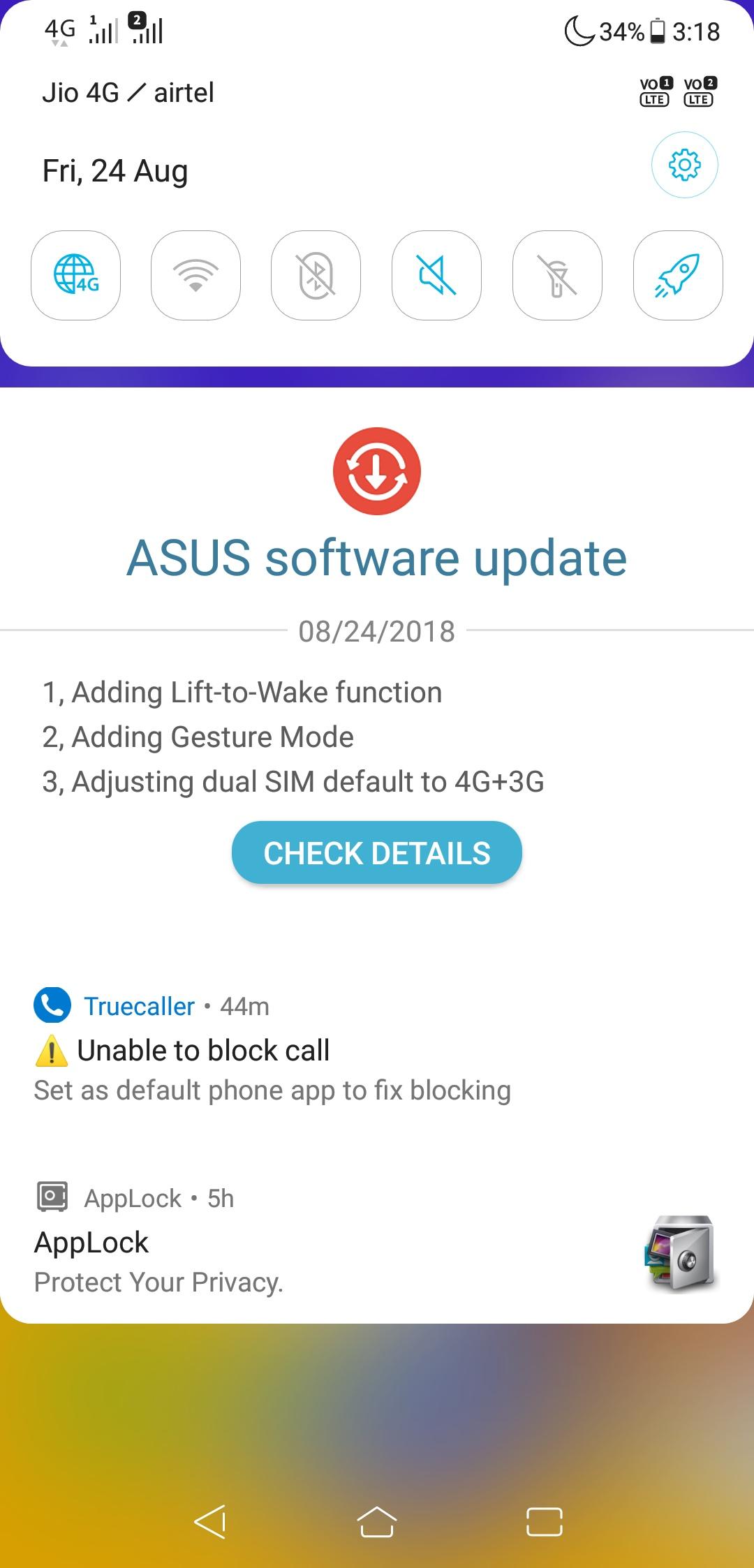 Asus Zenfone 5Z OTA Update