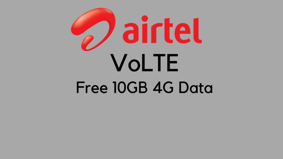 airtel volte free 10gb
