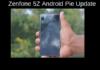 Zenfone 5Z Android Pie Update