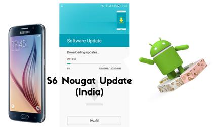 Galaxy S6 Nougat update India